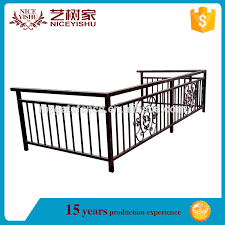 veranda cer usata yishujia factory top selling veranda wrought iron railing modern