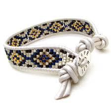 bracelet handmade leather images White leather wrap bracelet lisa weir beaded jewellery jpg