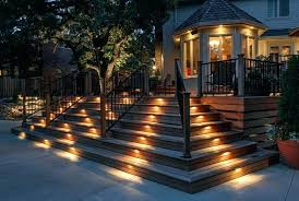 led outdoor step lights good deck stair lights led outdoor stair