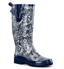 roots canada womens boots rainwear water resistant rubber boots booties patterned