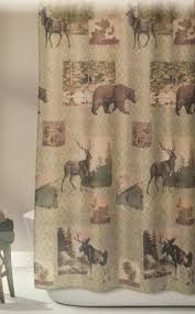 bear themed home decor shower curtains lodge shower curtain bathroom images silhouette