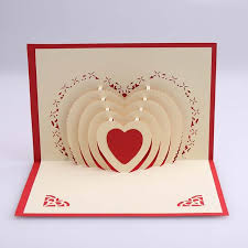 cheap popular 3d stereoscopic creative birthday gift to marry