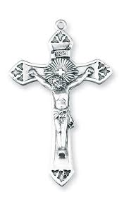rosary supplies radiant with cross sterling silver crucifix necklace by hmh