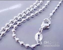sterling silver beaded necklace images Online cheap 925 sterling silver 1 5mm ball bead chain necklace jpg