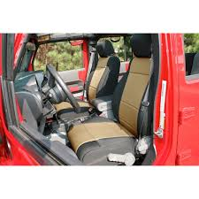 seat covers jeep wrangler rugged ridge 13215 04 neoprene front seat covers black and