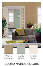 Painting Color Schemes Glidden Paint Colors Toasted Oatmeal Hazy Sage U0026 Gentle Fawn Via