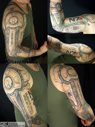 vote for matt u0027s cybernetic arm geeky tattoos