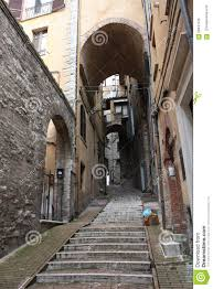 stairs in perugia street italy stock photo image 56041976