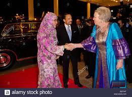 Sultan Hassanal Bolkiah Of Brunei C And His Wife Pengiran Anak