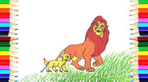 coloring pages lion king how to draw lion king art colors for