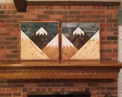 mountain wall wood mountain wood sculpture 3d wood wall reclaimed