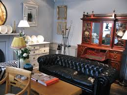 1920s english chesterfield in black leather furniture