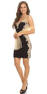 black and gold dress lace applique sweetheart neckline bodycon prom dress