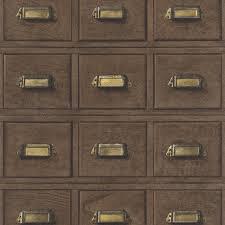 rasch wood cabinet drawers pattern wallpaper faux effect 524024