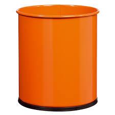 poubelle bureau corbeille bureau métal papéa rossignol 15 l orange bernard fr