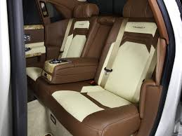 roll royce brown mansory rolls royce ghost white interior rear seats wallpaper 12