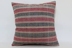 boho striped kilim pillow sofa pillow 20x20 ethnic pillow turkish