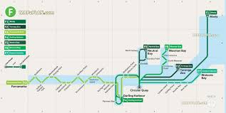 East River Ferry Map Sydney Map Ferry Routes Interchanges Stops Showing Circular
