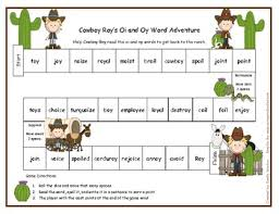 cowboy roy oi and oy word adventure game literacy station rf 1 3
