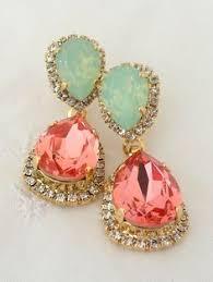 Pink Chandelier Earrings Blush Pink Chandelier Earrings Drop Earrings By Eldortinajewelry