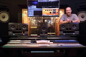 adam audio a77x active studio monitor near midfield