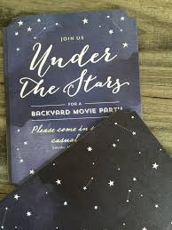 Backyard Birthday Party Invitations by Create Custom Invitations For A Movie Night Under The Stars
