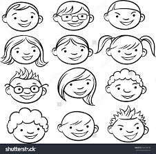 royalty free whiteboard drawing smiling kids faces 204378196