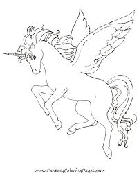 free coloring pages pegasus and unicorns ausmalbilder
