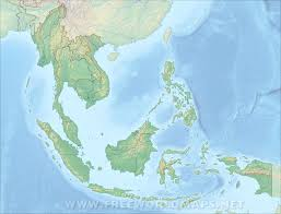 Blank East Asia Map by Southeast Asia Physical Map
