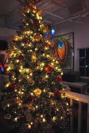 christmas tree interior decoration of mojo restaurant and lounge