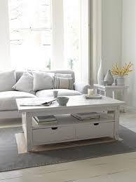 furniture incredible white coffee table with storage design ideas