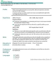 resume summary vs objective resume title example