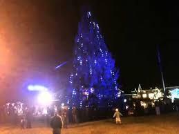 christmas tree lighting ll bean freeport me youtube