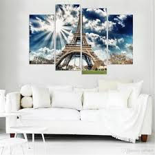 Eiffel Tower Wallpaper For Walls 2017 Canvas Painting Eiffel Tower Oil Spray Printings For Living