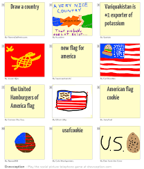 American Flag Doodle Draw A Country