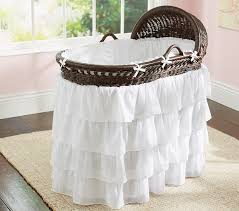 Bassinet That Hooks To Bed Ruffle Bassinet Bedding Pottery Barn Kids