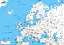map of all the countries in europe detailed roads map of europe with capitals and major cities