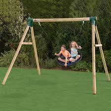 plum spider monkey ii wooden garden swing set from the original