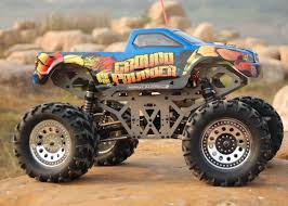 rc monster truck racing ground pounder remote control rc monster truck w anodized aluminum