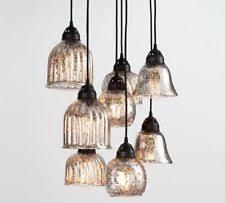 Glass 8 Light Pendant Pottery Barn Kenzie Mercury Glass 8 Eight Light Pendant Chandelier