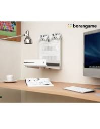 Desk Game by Borangame Gameside Game Console Horizontal Wall Mount White
