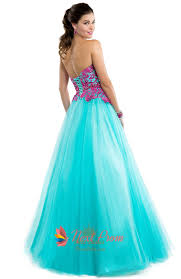 aqua blue prom dresses with pink lace top pink and blue