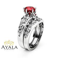 Ruby Wedding Rings by Best 25 Gold Ruby Ring Ideas On Pinterest Ruby Eternity Ring