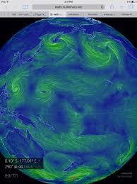 Earth Wind Map Record Global Temperatures Robertscribbler