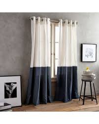 Navy Curtain Slash Prices On Dkny Color Band 108 Grommet Top Window Curtain