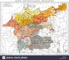 map germany and a map of german dialects for those interested europe