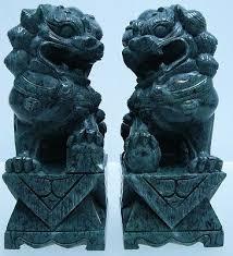 foo dog for sale carved pair vintage foo dog lion shishi guardian jade statues