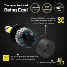 le h7 led nighteye 9000lm h7 led headlight kit light bulb canbus anti