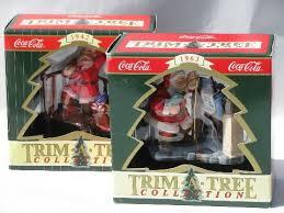 1942 and 1963 coca cola coke santa tree ornaments 1990s