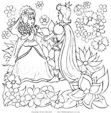 royalty free coloring page stock wedding designs